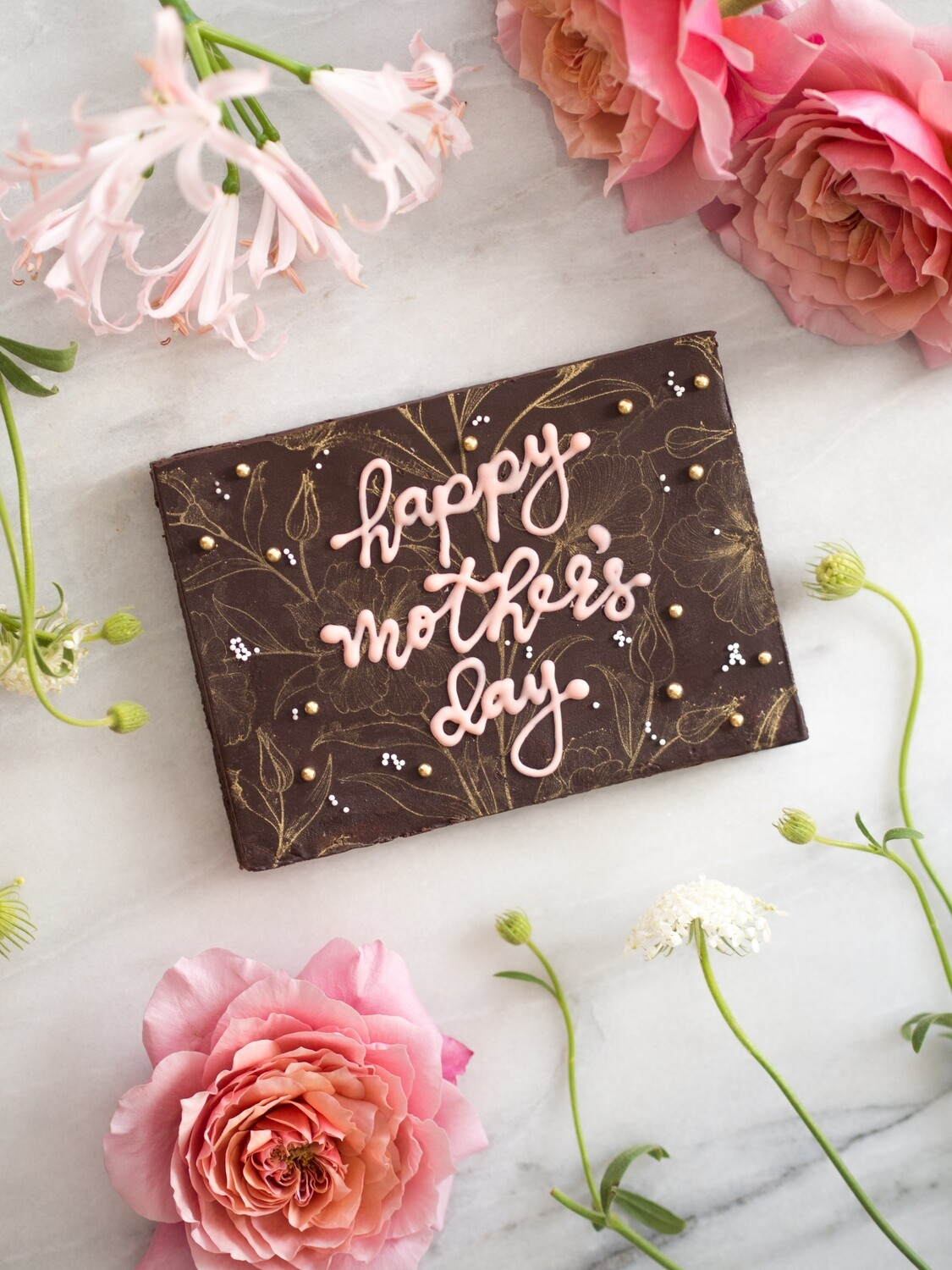 Mother's Day Brownie Slab