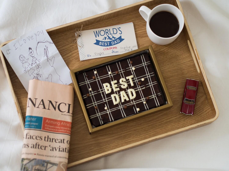 Father's Day Brownie Slab