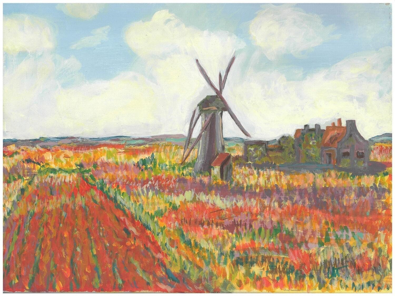 """Champ de tulipes, Hollande"" – Claude Monet, 1886 (Artist's Interpretation)"