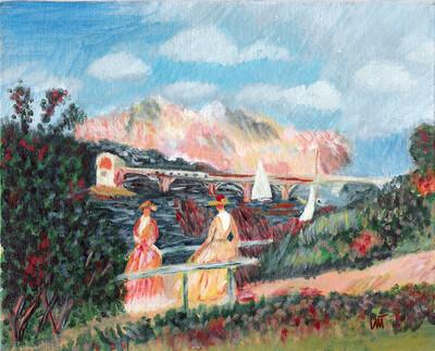 """""""The Banks of the Seine"""" – Pierre-Auguste Renoir, 1880 (Artist's Interpretation)"""