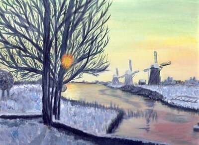 """Amsterdam in Winter"" (Interpretation of photo by P. Magielsen)"