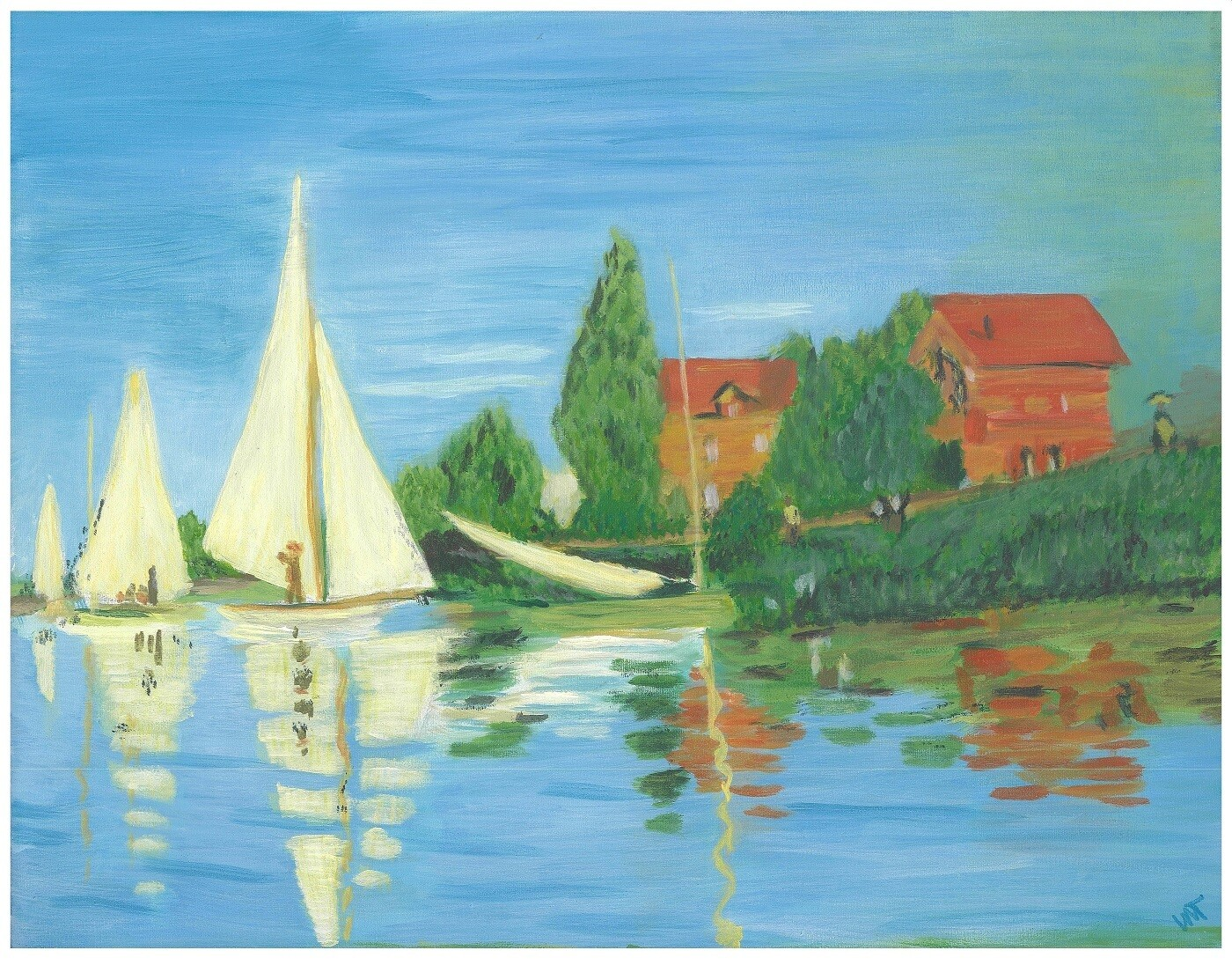 """Regatta at Argenteuil"" - Claude Monet, 1872 (Artist's Interpretation)"