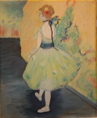 """Dancer in Green"" – Edgar Degas, 1878 (Artist's Interpretation)"
