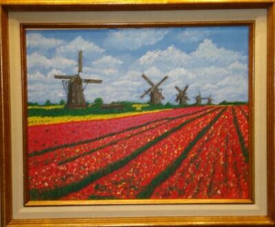"""""""De gebieden van de tulp"""" (Interpretation of photo by Bert van Loo Produkties BV)"""