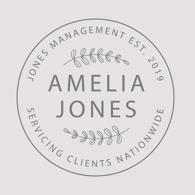 Amelia Jones - CUSTOM LOGO STYLE
