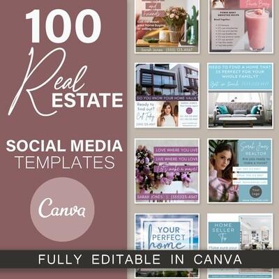 100 Real Estate Canva Templates