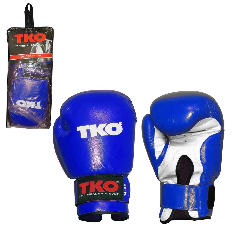 TKO - Guantes de Boxeo, Color Azul