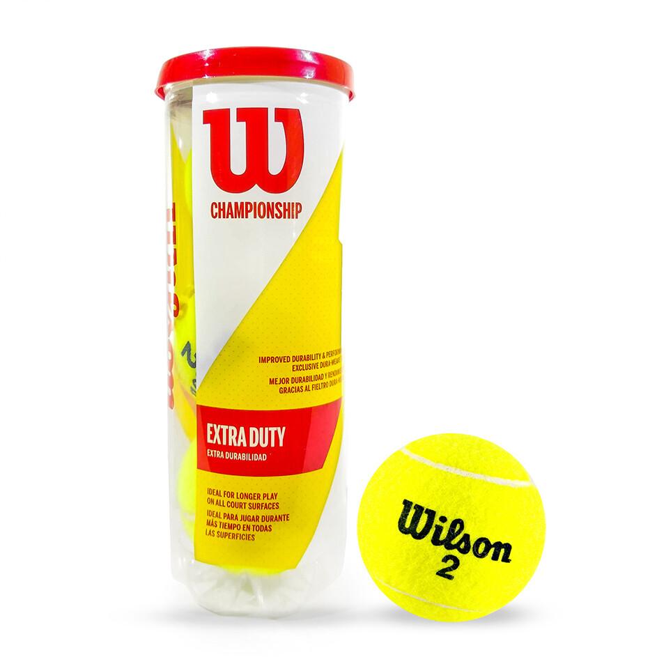Pelota De Tenis #2 Wilson Championship Extra Duty X 3 Unidades