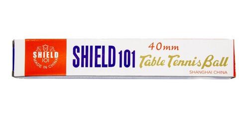 Set X 6pcs Bolas Pelotas Shield 101 Ping-pong 40mm