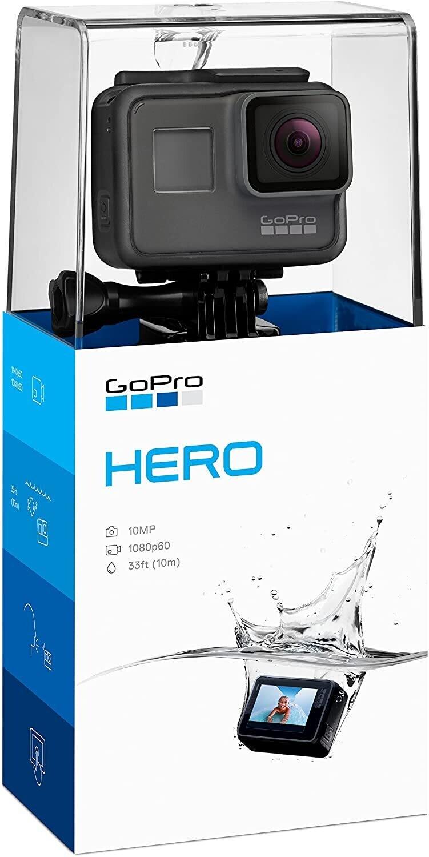 GoPro Hero - Cámara de acción digital impermeable para viajar con pantalla táctil 1080p HD Video 10MP Fotos