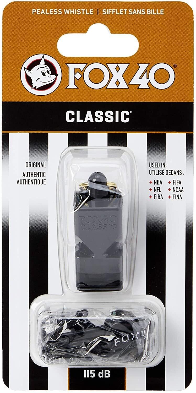 Silbato oficial Fox 40 Classic con cordón desmontable