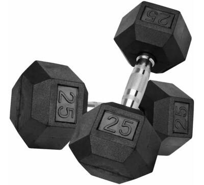 Mancuerna Hexagonal En Caucho 25Lb TKO