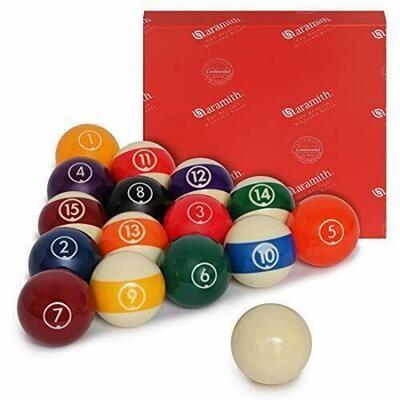 """Aramith Continental Juego de bolas de billar para billar 2 1/4 """""""
