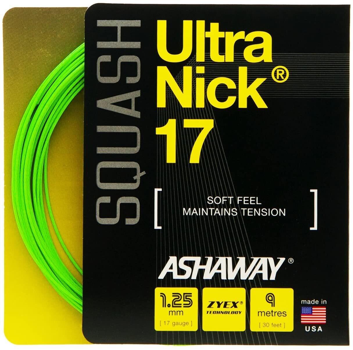 Cuerdas de squash Ashaway Ultra Nick 18