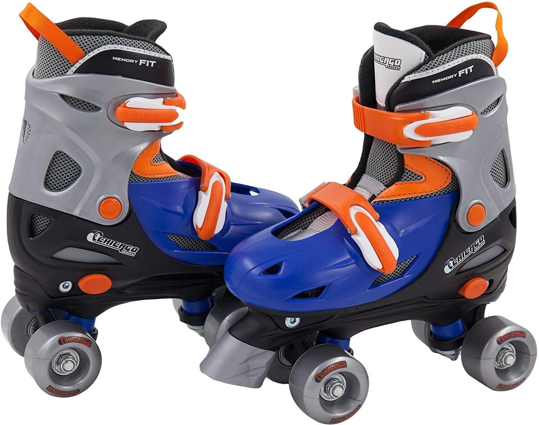 Chicago - Patines de ruedas ajustables para niño, color azul y plateado