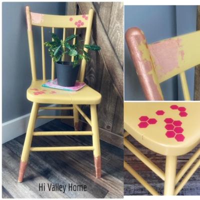 Honeycomb/Rose Gold Sunshine Chair