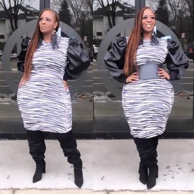 Zebra Print Dress