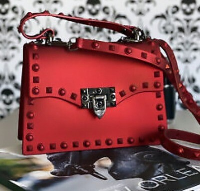 Studded Jelly Bag (Red)