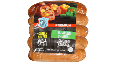 Uncle John's Pride Jalapeño & Cheddar Smoked Sausage