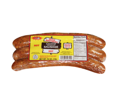 Bean Brothers Country Smoked Hot Sausage