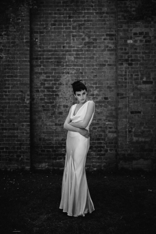 ELISE. Ivory Silk Wedding Dress