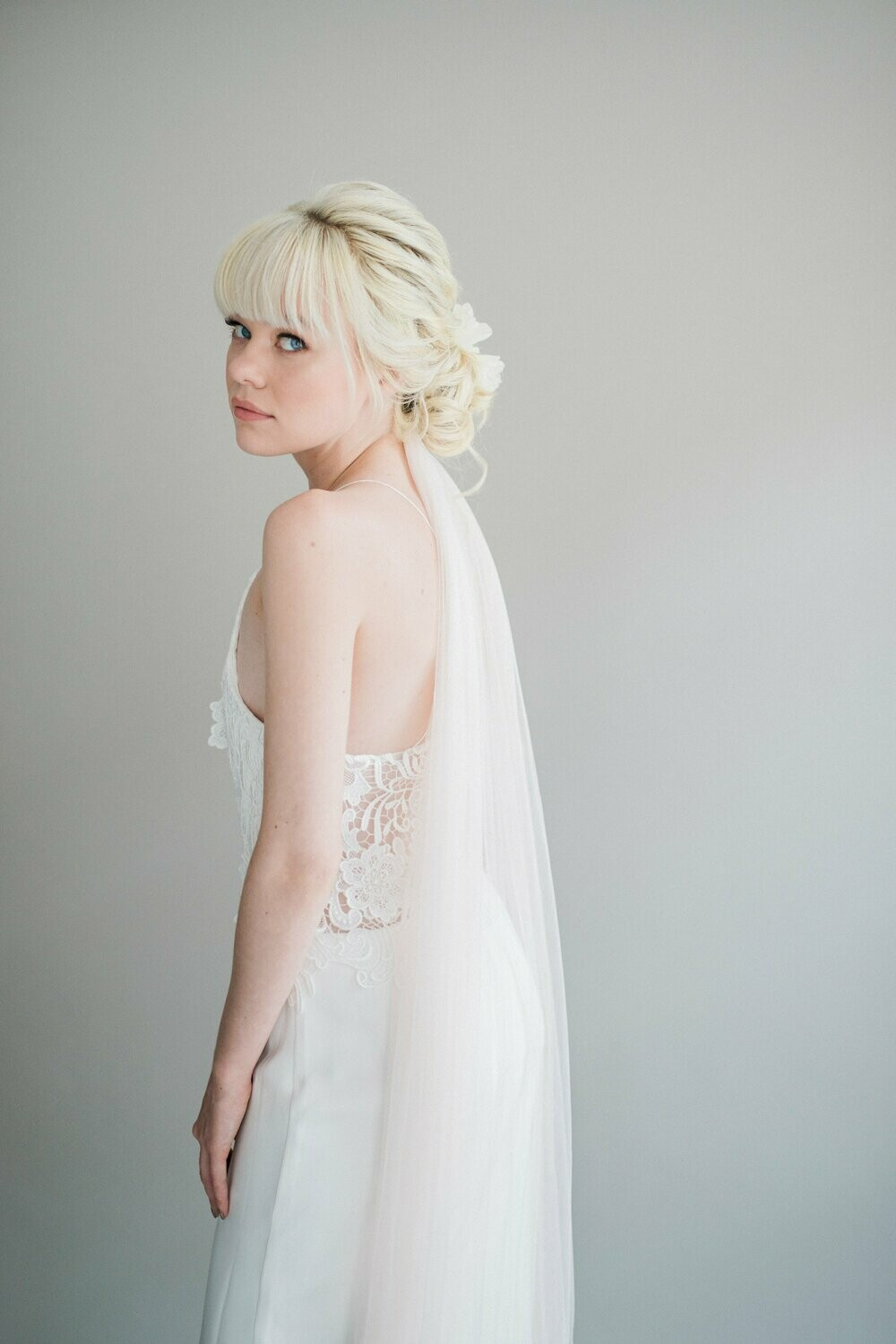 CHARLOTTE. Ivory Silk Wedding Dress
