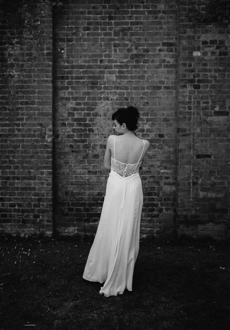 ANOUK. Ivory Silk Wedding Dress