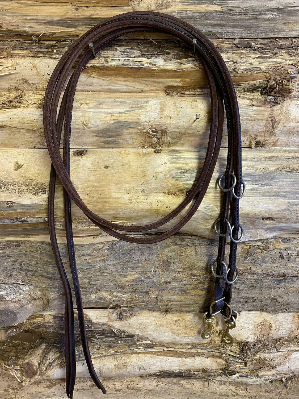 #218 Original, sewn split martingale leather Reins