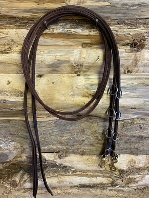 #218 Original, sewn split martingale leather Reins