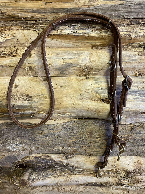 #212-C sewn one piece reins