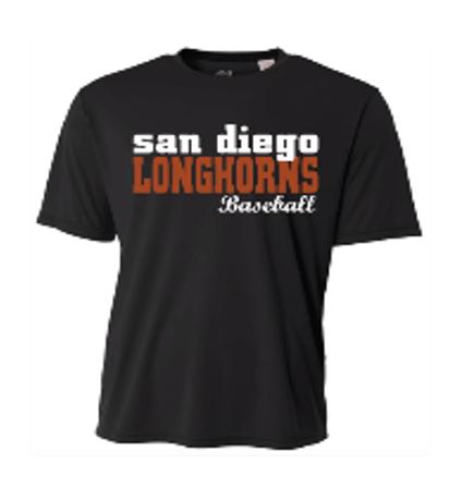 Longhorns Black Dri Fit Game Jersey