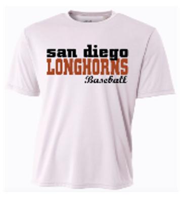 Longhorns White Dri Fit Game Jersey
