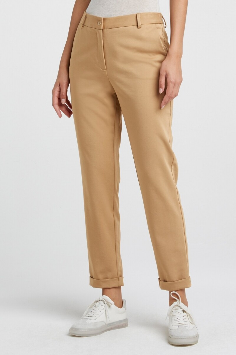 YAYA Relaxed fit trousers SAND