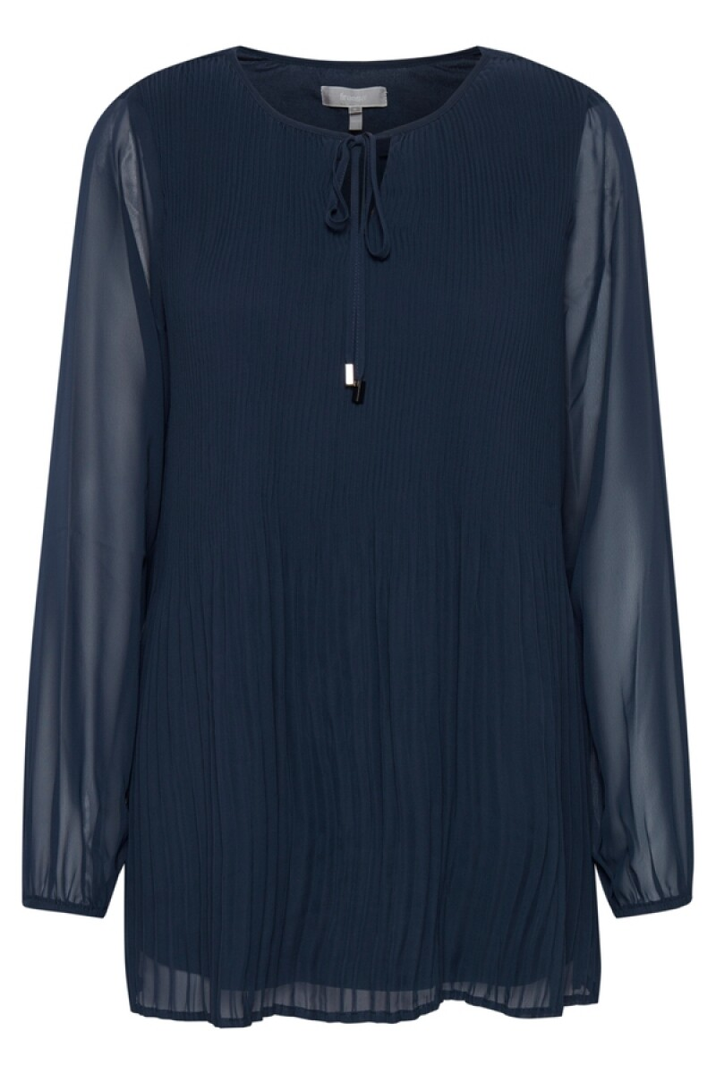 Fransa Tunicblouse plisse Dark Blue