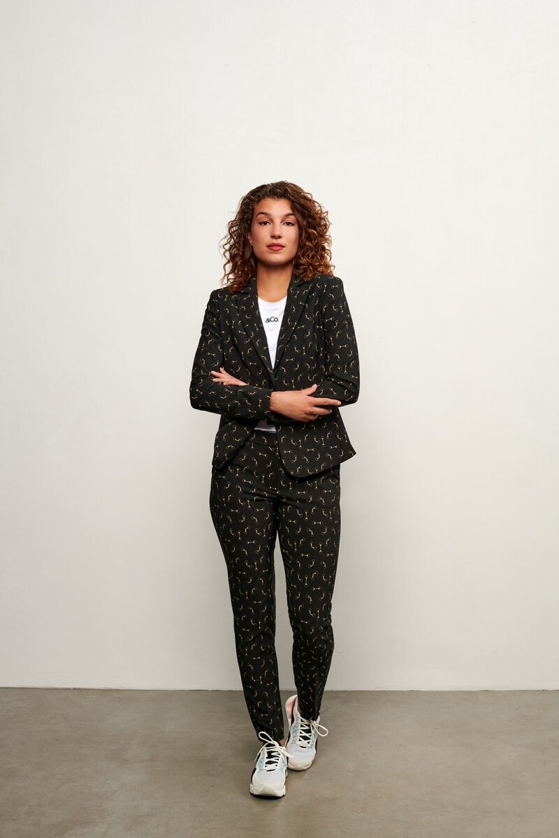 &Co Cayenne blazer zwart print