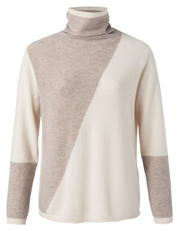 Yaya sweater coll CAMEL MELANGE