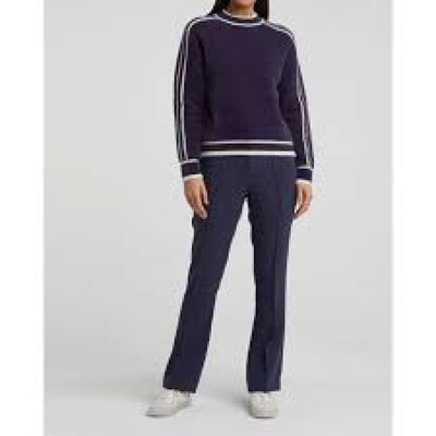 YAYA Tailored Flare Trouser BLUE NIGHTS