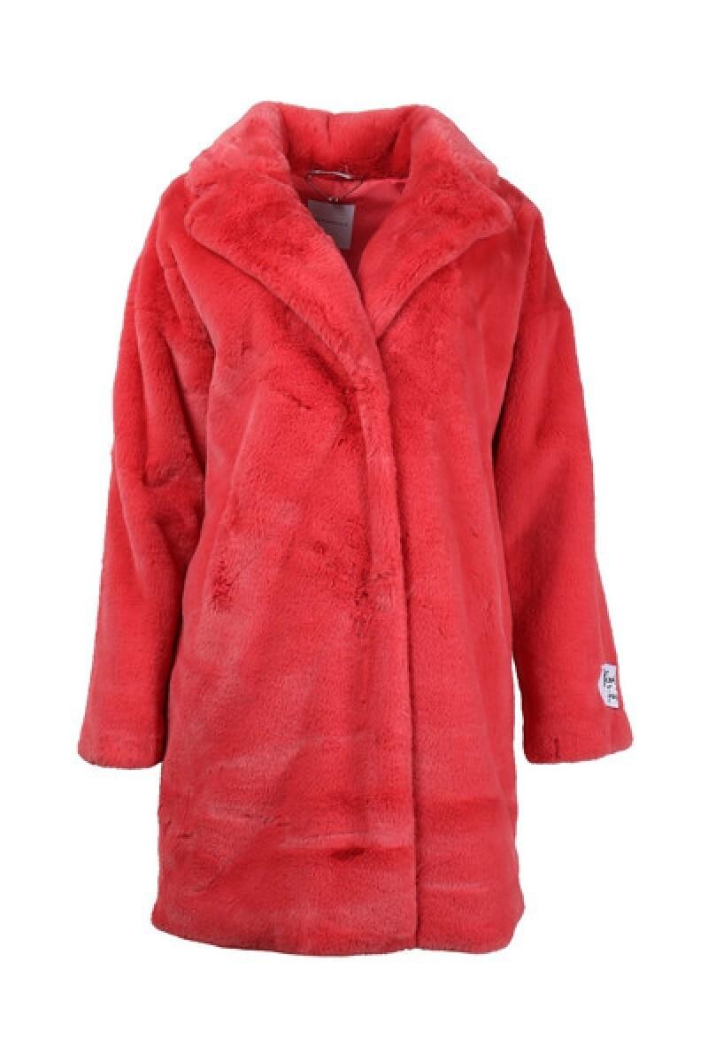 Rino & Pelle Coat Faux Fur Pinkred