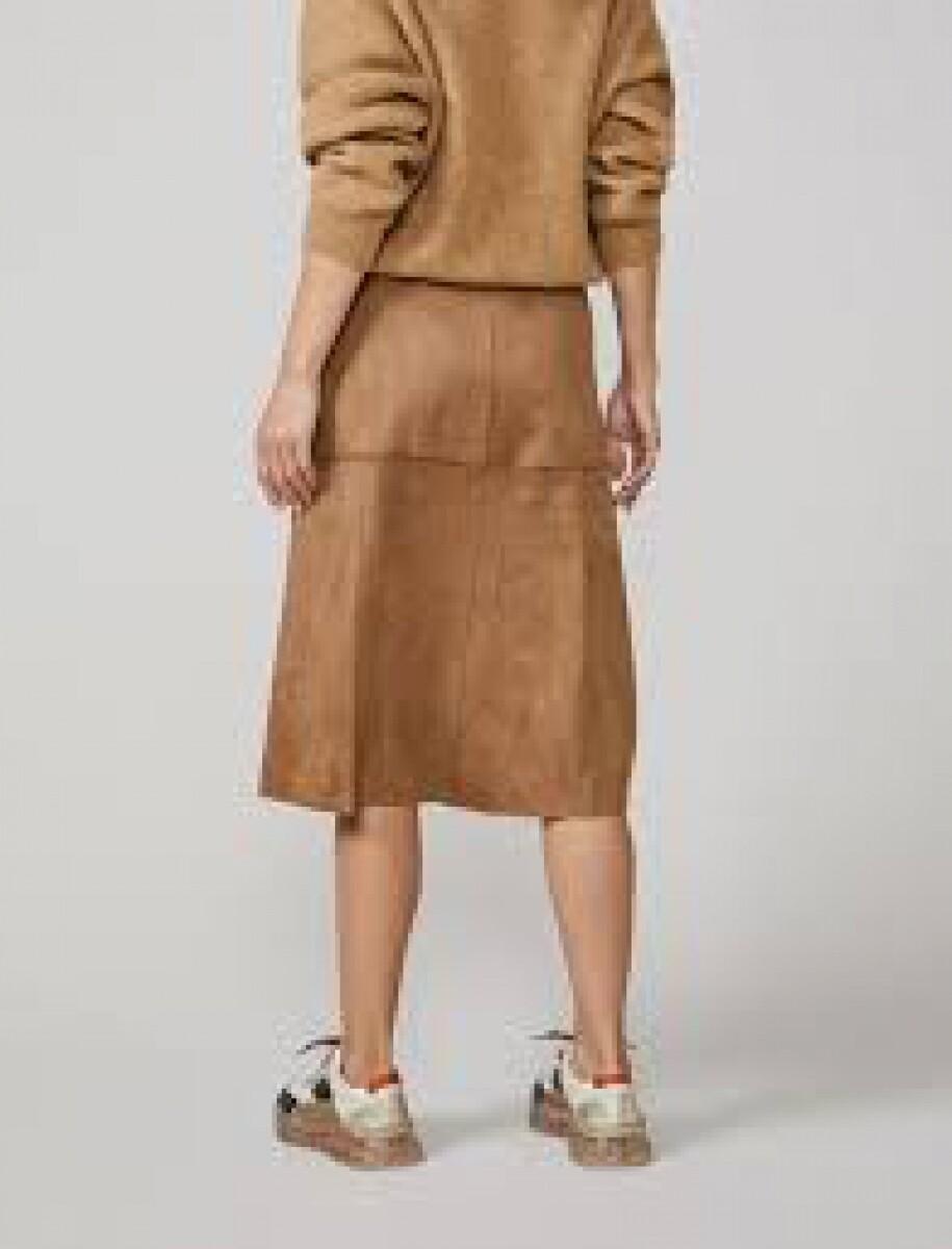 Summum Skirt Buttoned Camel