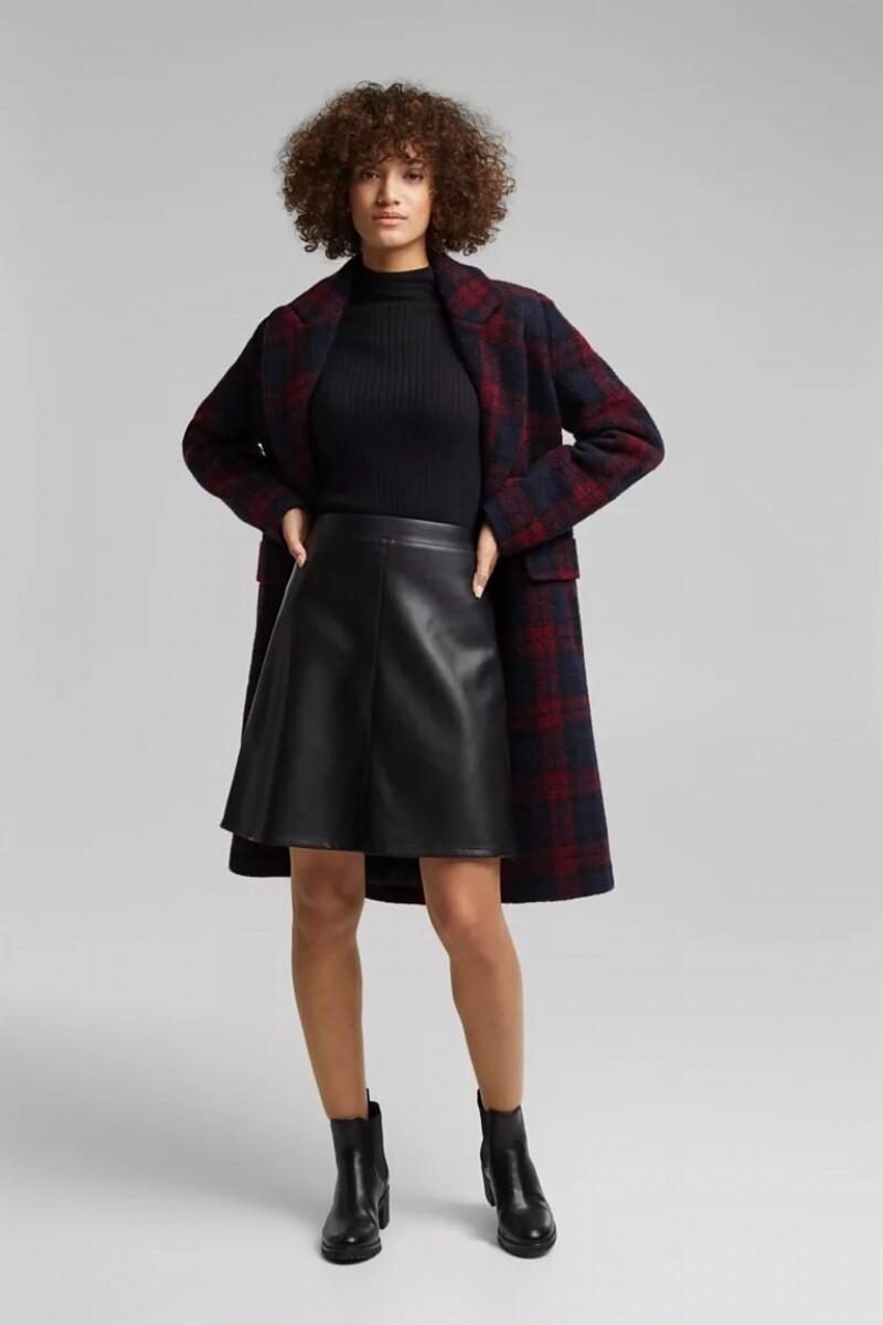 Esprit Imitatieleer skirt zwart