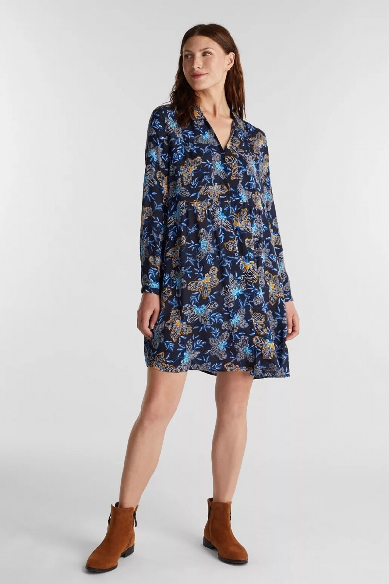 Esprit tunicdress d.blauw