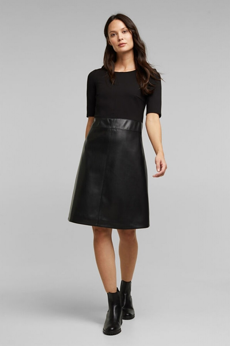 Esprit Flared Dress zwart