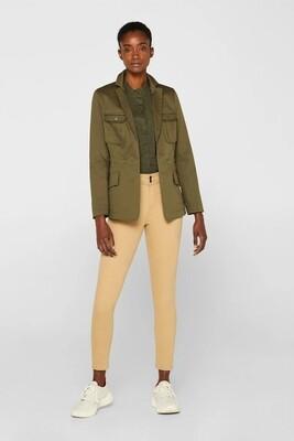 Esprit Skinny cotton pants camel