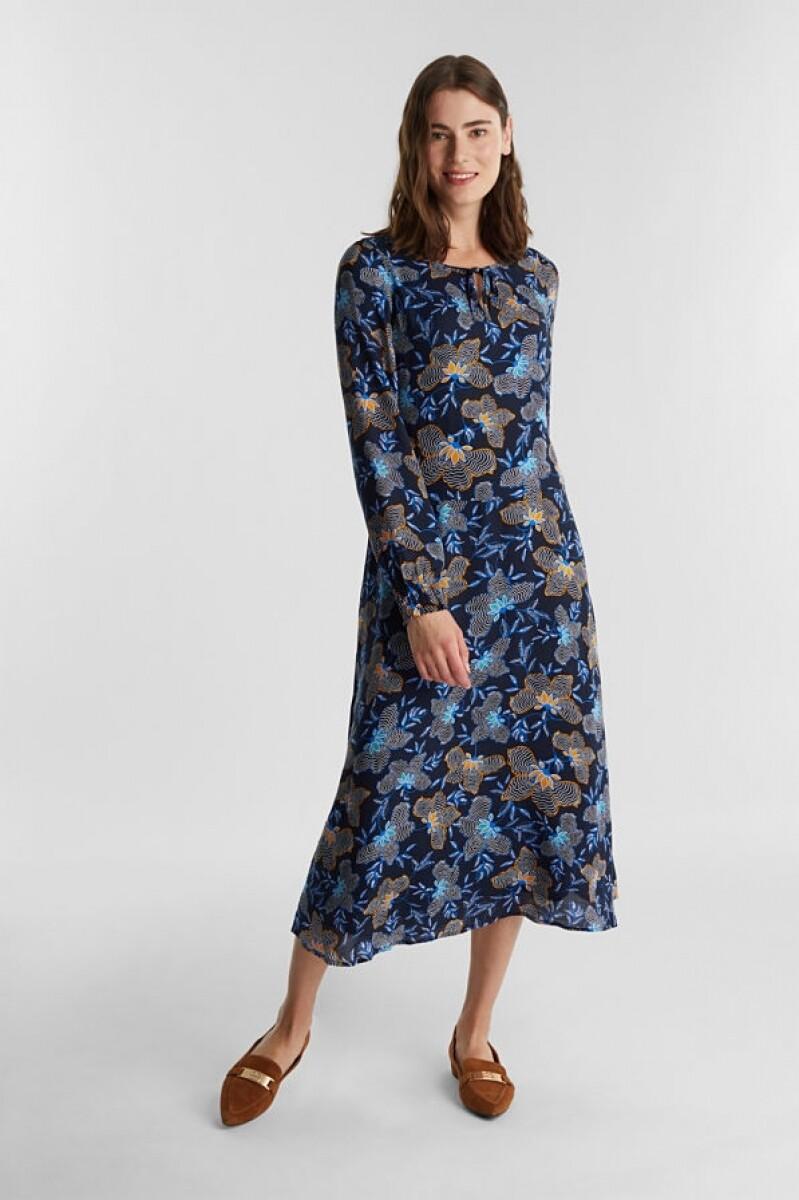 Esprit dress Dark blue print