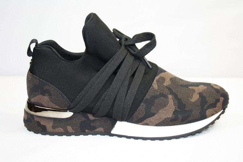 La Strada Sneaker Army print brons