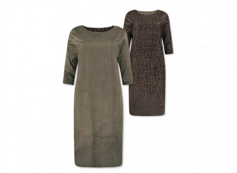 Lizzy & Coco Reversible Dress Cacy green