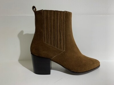 Steven NY Ankle boot Suede Khaki brown