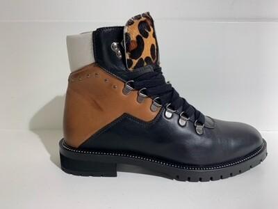 Roberto d´Angelo laqueleather boot Bomy  Black-brown