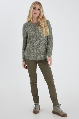 Fransa Pullover Cotton Misty Green