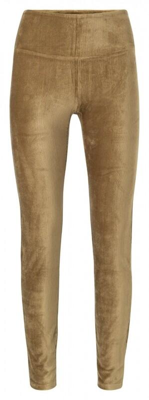 YAYA Legging velvet BUTTERNUT